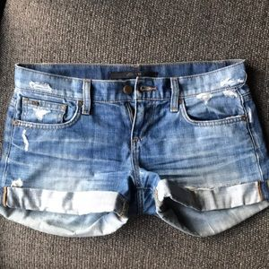 Joe's Jeans distressed roll up shorts 25